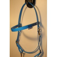 HorseBallTech Bridle made of BioThane® - Blue