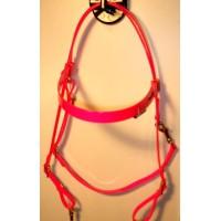 HorseBallTech Bridle made of BioThane® - Pink