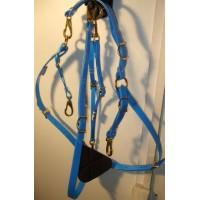 Breastplate HorseBallTech made of BioThane® - Blu