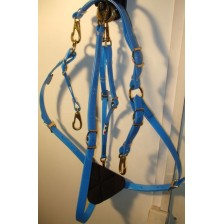 Breastplate HorseBallTech made of BioThane® - Blu