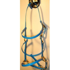 Bridle/Halter HorseBallTech made of  BioThane® - Blue