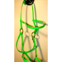 Bridle/Halter HorseBallTech made of  BioThane® - Green