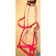 Bridle/Halter HorseBallTech made of  BioThane® - Pink