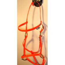Bridle/Halter HorseBallTech made of  BioThane® - Orange