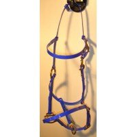 Bridle/Halter HorseBallTech made of  BioThane® - Dark Blue