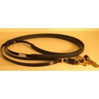 Leather Reins HorseBallTech made of BioThane® - Glossy Black