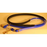 Leather Reins HorseBallTech made of BioThane® - Dark Blu