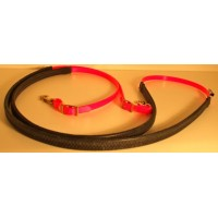 Leather Reins HorseBallTech made of BioThane® - Orange