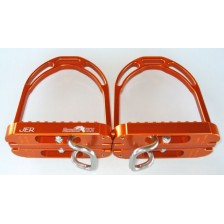 Horse-Ball Stirrup of HorseBallTech™ - On Discount ! Adult Size - Color laranja