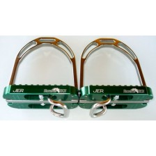 Horse-Ball Stirrup of HorseBallTech™ - On Discount ! Adult Size - Color Green and Aluminium