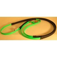 Leather Reins HorseBallTech made of BioThane® - Green